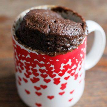 mug cake de chocolate con proteinas